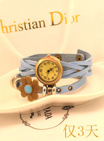 Beautiful All-match fashion time table women's watch bracelet watch vintage table leather strap