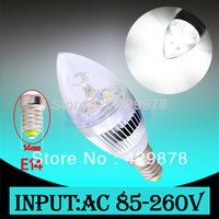 6W 3x2W Pure White E14 Home Candle Bulb LED Light Lamp 85-265V 110V 220V 230V