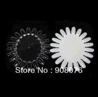 Best Selling!!New 20 PCS False Nail Tips Art Display Practice Wheel Board 5set/lot+Free Shipping