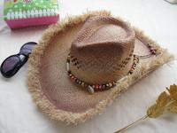 Free Shipping Cowboy hat moben strawhat cap anti-uv sunbonnet beach