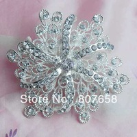 Large Fancy Rhinestone Flower Style Fashion Jewelry Brooch PIns wholesale and retail, item no.: BH7468