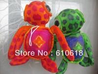 Free Shipping 2Pcs/Lot Big Eyes Turtle Tortoise Stuffed Plush Glass Sucker Toys Children Promotions Gifts Car Home Decor Toys