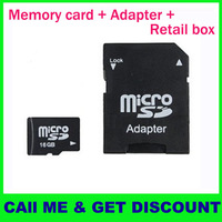 (1pc TF card + 1pc Adapter + retail box) 2GB 4GB 8GB 16GB 32GB MicroSD Micro SD HC Transflash TF CARD WITH ADAPTER (Kapa)
