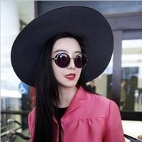 Fashion metal frame sunglasses vintage sunglasses non-mainstream circle sun glasses