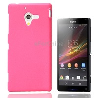 Durable Pure Color Scrub Plastic Case for Sony Xperia ZL / L35h / C650X / Xperia ZQ (Magenta)