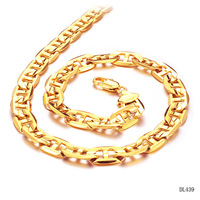 New Arrivals Fashion 9mm Copper 18KGP Gold Plated Shiny Cut Cuban Curb Chain Link Necklace Fashion Mens Jewelry 40g