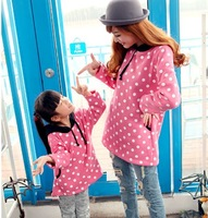 Fall 2014 Family fitted children clothing Sweater mom doughter sweatshirts hoody hoodies outwear clothes free shiping