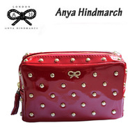 Anya hindmarch anya middot . fashion women's short design wallet cosmetic square day clutch bag
