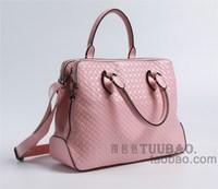 New arrival 2013 paragraph white collar classic plaid embossed cowhide handbag messenger bag genuine leather handbag women's