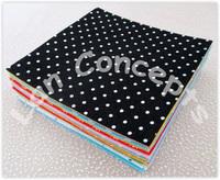 Free shipping DIY Polyester Felt Fabric Non-woven Sheet with Printed Polka Dots flowers Hearts -150x150mm 81pcs/lot LA0073B