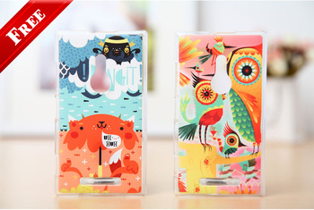 2pcs 10% off !!! Hot Korean Printed Hard Protector Cover For Nokia Lumia 925 Phone Cover Fits Nokia 925 Mobile Phone Case