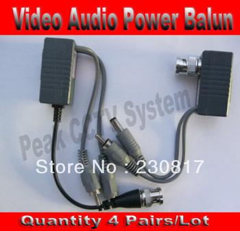 BNC Video Balun Audio Power 4 Pairs CCTV Audio Video Balun UTP twisted pair Power Transceiver