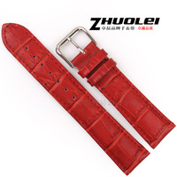 Genuine leather watchband genuine leather watch band women's watchband 12 14 16 18 19 20mm red