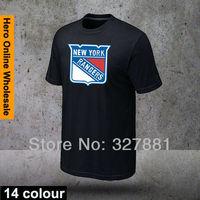 2015 Free Shipping 14 colors Brand Men's O-Neck fashion t shirt for men NHL model Rangers