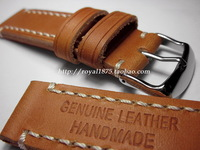 Antique handmade 20mm claybank calf skin watchband retro finishing bold male genuine leather watchband