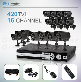 16CH full D1 cctv system 16pcs 420TVL outdoor IR cameras Standalone Surveillance Security CCTV camera system HDMI output
