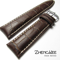 Genuine leather watchband chromophous scale-free 20mm cowhide crocodile pattern genuine leather watchband gold and silver buckle