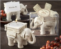 3pcs/Lot Elephant Craft Candle Wedding Favors Christmas Decoration Candles /Creative Wedding Gifts Free Shipping