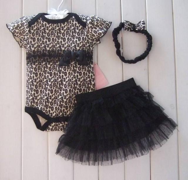 6sets/много моды леопард младенческой девушка набор