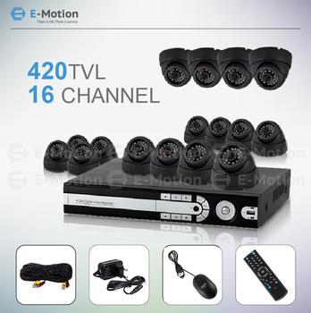 cctv system 16CH full D1 420TVL 2pcs 2TB H.264 DVR 16 dome Standalone Surveillance Security CCTV camera system HDMI output
