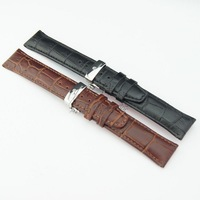Amere genuine leather watchband butterfly buckle series watchband black brown 20 21 22