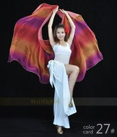 BELLYQUEEN~Belly Dance Accessory 100% Imitation Silk 250cm*120cm Colorful Veils,High Grade,18Colors IN