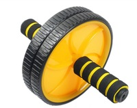 Free Shipping Double-Wheeled Abdominal Wheel Ab Roller With Mat For Exercise Fitness Equipment 5 Colors