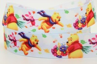 Aesthetic ribbon bear print ribbon ribbon divisa bow diy cartoon rib knitting belt 50y