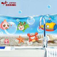 Child cartoon wall stickers bathroom tile waterproof stickers