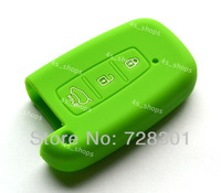 Green Silicone 3 Buttons Smart Key Case Cover Holder Protecting Bag For Kia Picanto Forte Morning Sportage Optima K5 K7 Soul