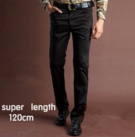Fashion Men's Casual Flat Trousers 120cm length straight outdoor Pants for man khaki, black,grey Free shipping