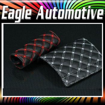 Red Wine Style Micro Fiber Car Handbrake Cover 2 pieces Set Auto Accessories 2 Color Hot Sell#622821