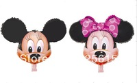 Large Foil Balloon Minnie Mouse Figure Helium Balloon (Cartoon design) , 1000pcs/lot Minne mouse party supplier