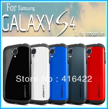 MOQ:100pcs Free shipping Via Fedex 2013 New On Market SLIM ARMOR New SGP case for Samsung galaxy s4 SIV i9500 Retail Package