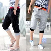 2013 trend casual pants men's clothing male capris fashion capris