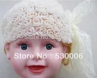 2 Colors Children Baby Girls Rose Flower Bowknot Lace Elastic Hairband Headband,Infant Toddler Headband Hairwear Hair Ornaments