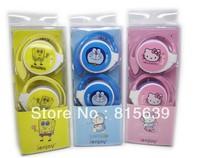 Free Shipping + colorful cartoon earhook Headphone Headset for ipod mp3/mp4 mobilephone cheapest earhook  cuty earhook
