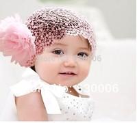 5pcs/Lot Pink/Red Newborn Baby Girls&Boys Flower Lace Elastic Hairband Headband,Infant Toddler Headband Hairwear Hair Accessory