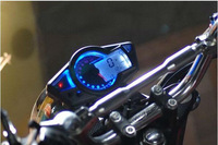 Universal LCD Blue Backlight Digital Speedometer Odometer Dashboard for Scooter, ATV, Street bike