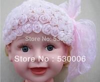 wholesale Children Baby Girls Rose Flower Bowknot Lace Elastic Hairband Headband,Infant Toddler Headband Hairwear Hair Ornaments