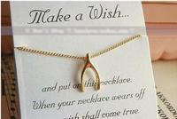 Free shipping whole sale Hot Sale Simple Beautiful Wishing Bone Heart pendant Necklace