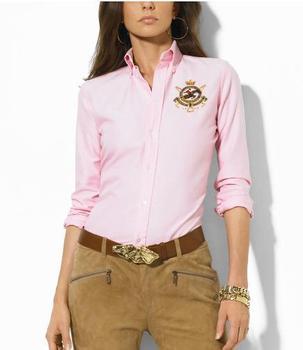 Fashion free Shipping Classic style Women's polo shirts brand long sleeve polo shirts casual  color shirts ladies polo shirt
