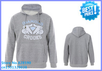 Free Shipping 2014 men's hoodie clothing hiphop new style hight quality brand crooks and catles diamond supply sweatshirt