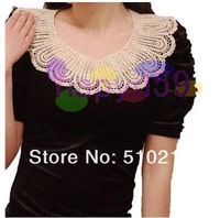free ship 9pcs fashion handmade women detachable collars lady false collar shawl neck collar necklace Accessories