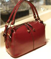 Korean Style 2014 New Handbag Simple Stylish Double Belt Buckle Retro Portable Shoulder Bag Diagonal Bag 201306WB171