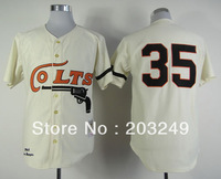Houston Colts #35 35 Joe Morgan cream baseball jersey