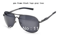 2013 new alloy metal Plaintiff gun frame gray Polarized lens  Men's fashion sunglasses outdoor sports glasses 19 frame colour