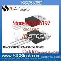 KSC5338D TRANSISTOR NPN 450V 5A TO-220 KSC5338 Fairchild Semiconductor 5338 KSC53 5338D KSC5 5338D