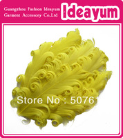Single Color Hot Sell Wholesale Nagorie Curly Feather Pads 60pcs/lot