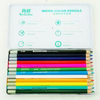 Truecolor 36 color pencil set for kids watercolor pencil stationary school set art painting for children